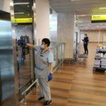 Международный аэропорт Красноярск усилил меры по профилактике заражения сотрудников и пассажиров коронавирусом